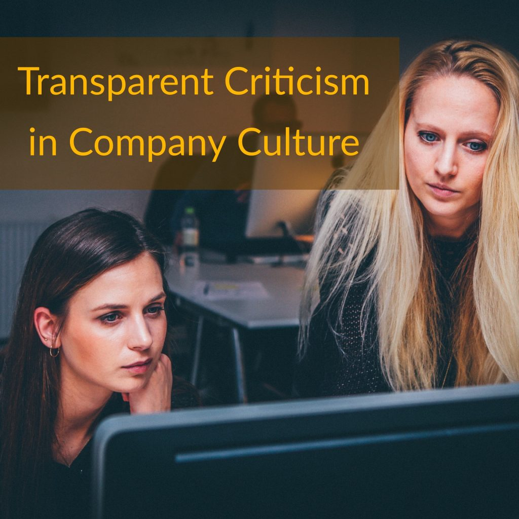 transparent criticism in company culture